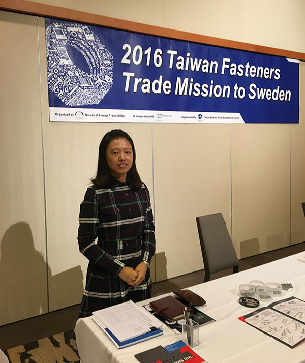 Wei In Enterprise Join 2016 Taiwan Fasteners Trade Mission